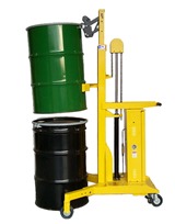 high reach drum lifter for double stacking